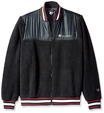 Amazon.com  Champion LIFE Men s Sherpa Baseball Jacket  Clothing a789b10a8ccd