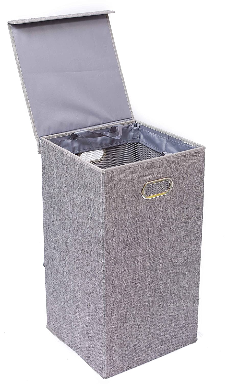 Amazon com   BirdRock Home Single Laundry Hamper with Lid and Removable  Liner   Linen   Easily Transport Laundry   Foldable Hamper   Cut Out  Handles   Baby. Amazon com   BirdRock Home Single Laundry Hamper with Lid and