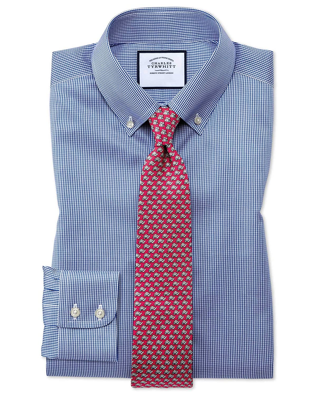 Charles Tyrwhitt Camisa Azul Real de Corte clásico con Estampado ...