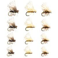 8 Pack of Elk Hair Dry Fly Trout Flies size 10 to 16 Fishing Flies