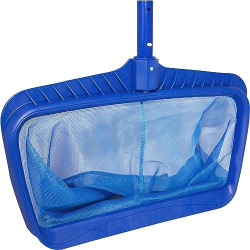 Swimline-Professional-Heavy-Duty-Deep-Bag-Pool-Rake,-Blue