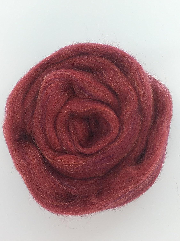 Persian Red Wool Top Roving Fiber Spinning Felting Crafts USA 1lb