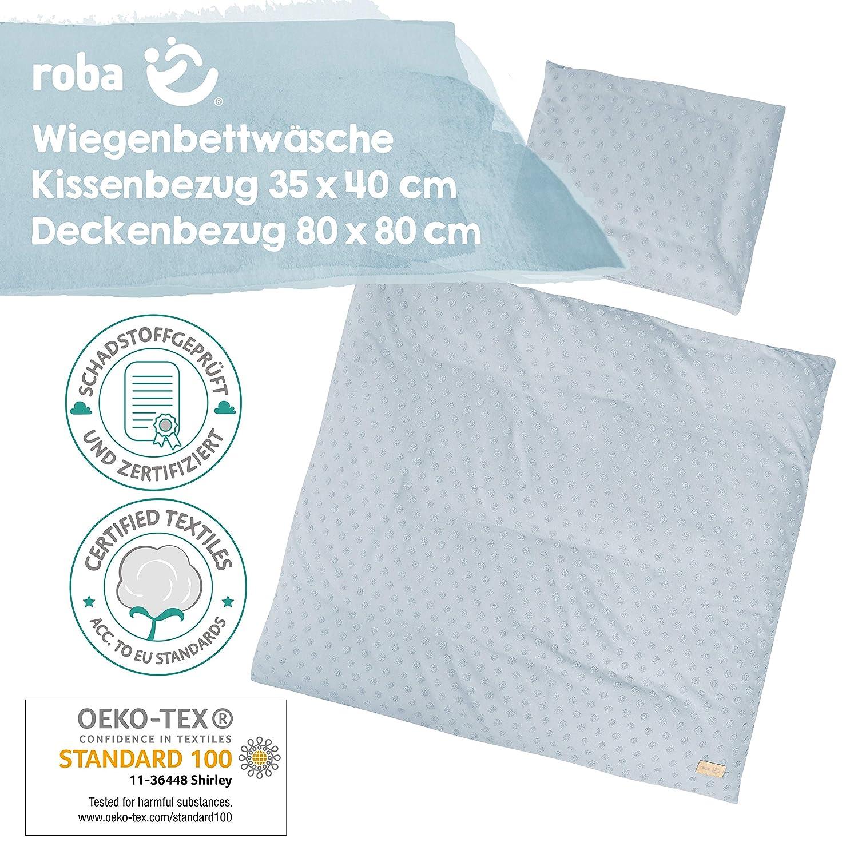 roba 314091V197 Bettw/äsche 2-teilig mehrfarbig 100/% Baumwolle Kollektion Happy Patch