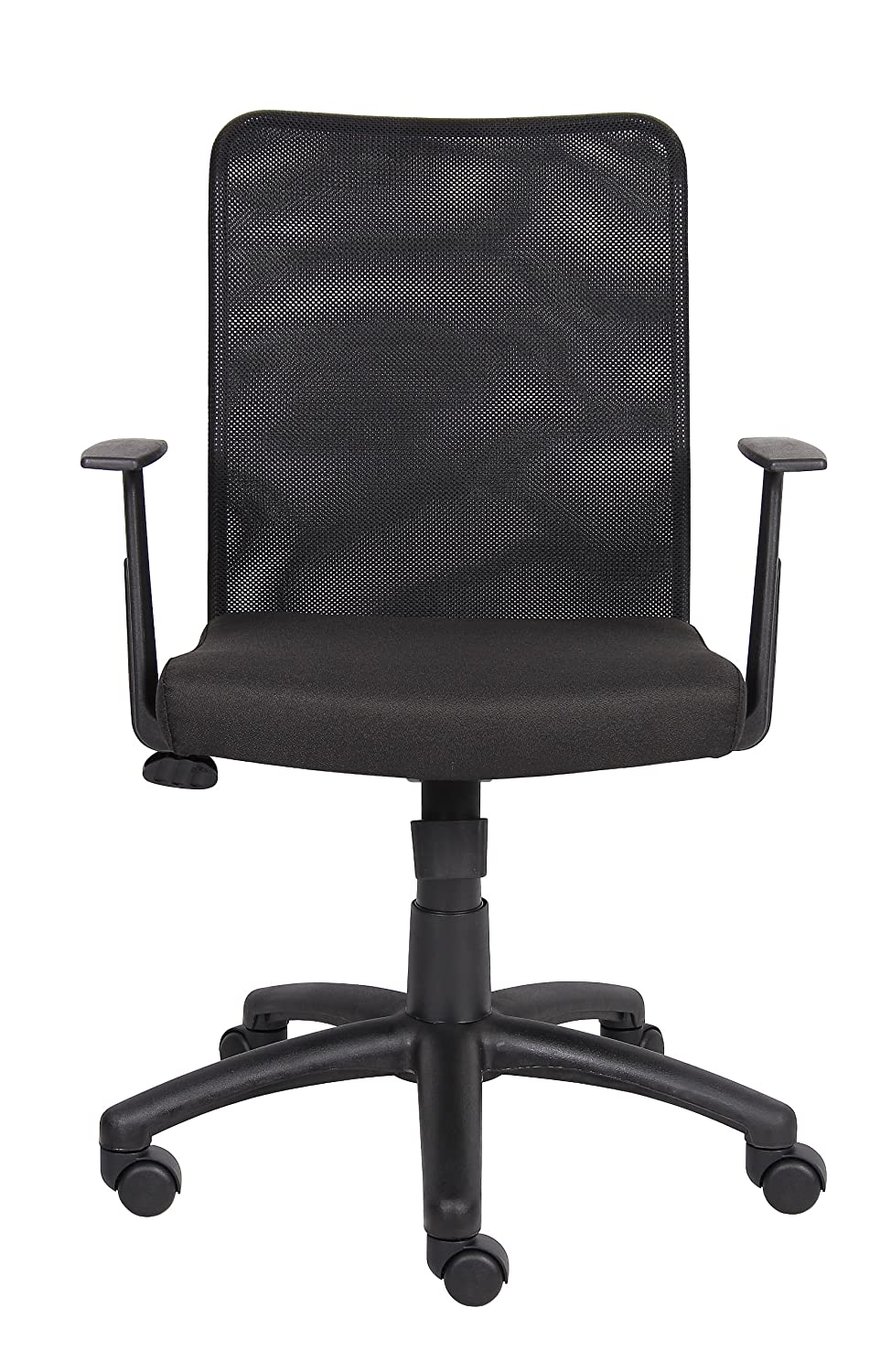 Boss Office Products B6106 Budget Mesh Task Chair with Arms in Black