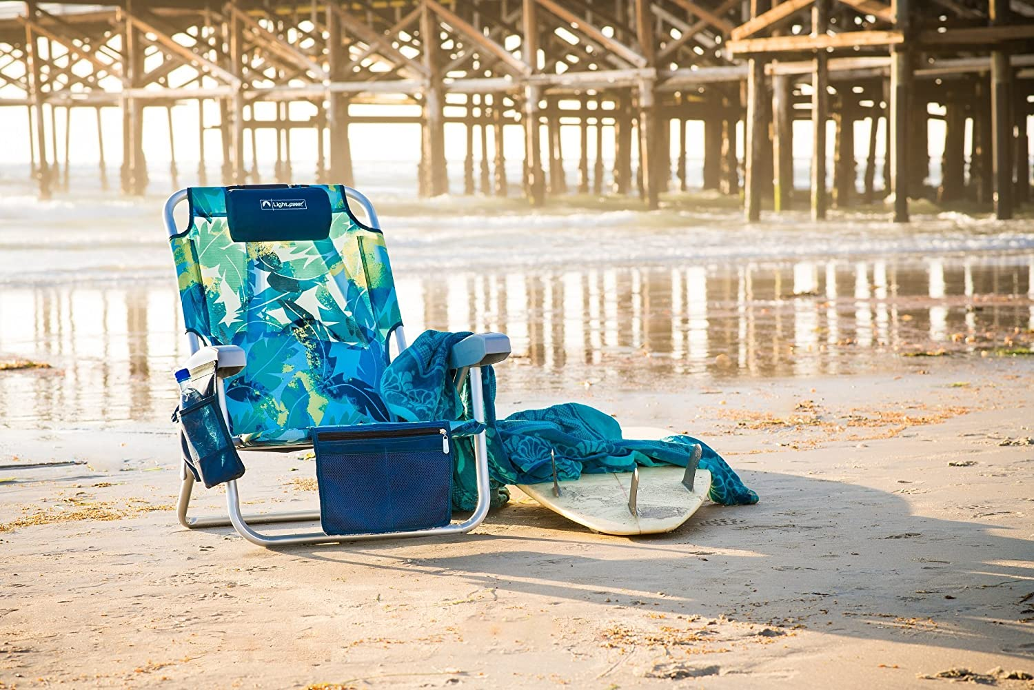 Lightweight Folding Chair Lightspeed Outdoors Reclining Beach Chair