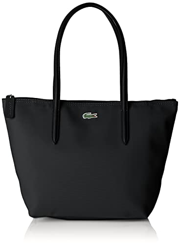 Bandouliere Cuir Noir Cabas Femme Sac 14 5x24 black Lacoste wE5Iq