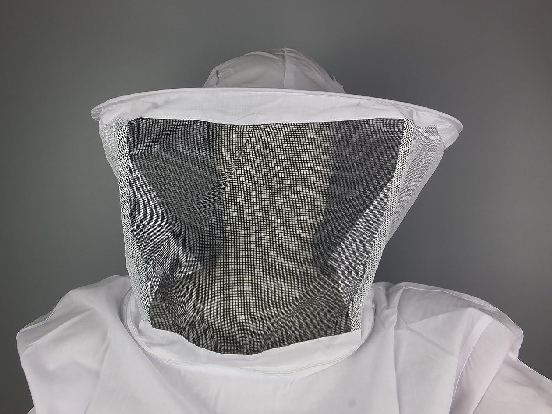 APIFORMES BasicBee Schutzjacke-Runde Schleier-D/ünn,Baumwolle,Schtichschutz,Bienen,Imkereibedarf