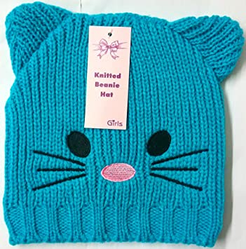 LIVERPOOL ENTERPRISES LTD Las niñas Orejas de Cara de Gato de Punto Beanie Cielo cálido Gorro de Invierno Ebay, pompón Azul Azul Claro: Amazon.es: Hogar