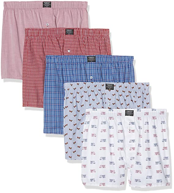 Springfield Fabric Boxers, Hombre, Reds, L