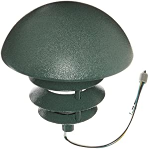 RAB Lighting LLD4VG Incandescent 4 Tier Lawn Light with Dome Cap, A-19 Type, 100W Power, 1650 Lumens, 120VAC, Verde Green