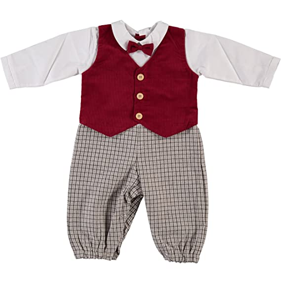 Victorian Kids Costumes & Shoes- Girls, Boys, Baby, Toddler Baby Boys Mock 3 Piece Holiday Longall  AT vintagedancer.com