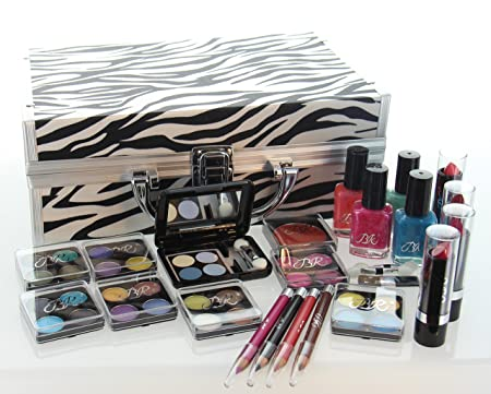 ETA Cosmetics Carry All Train Case Makeup Set and Reusable Case White