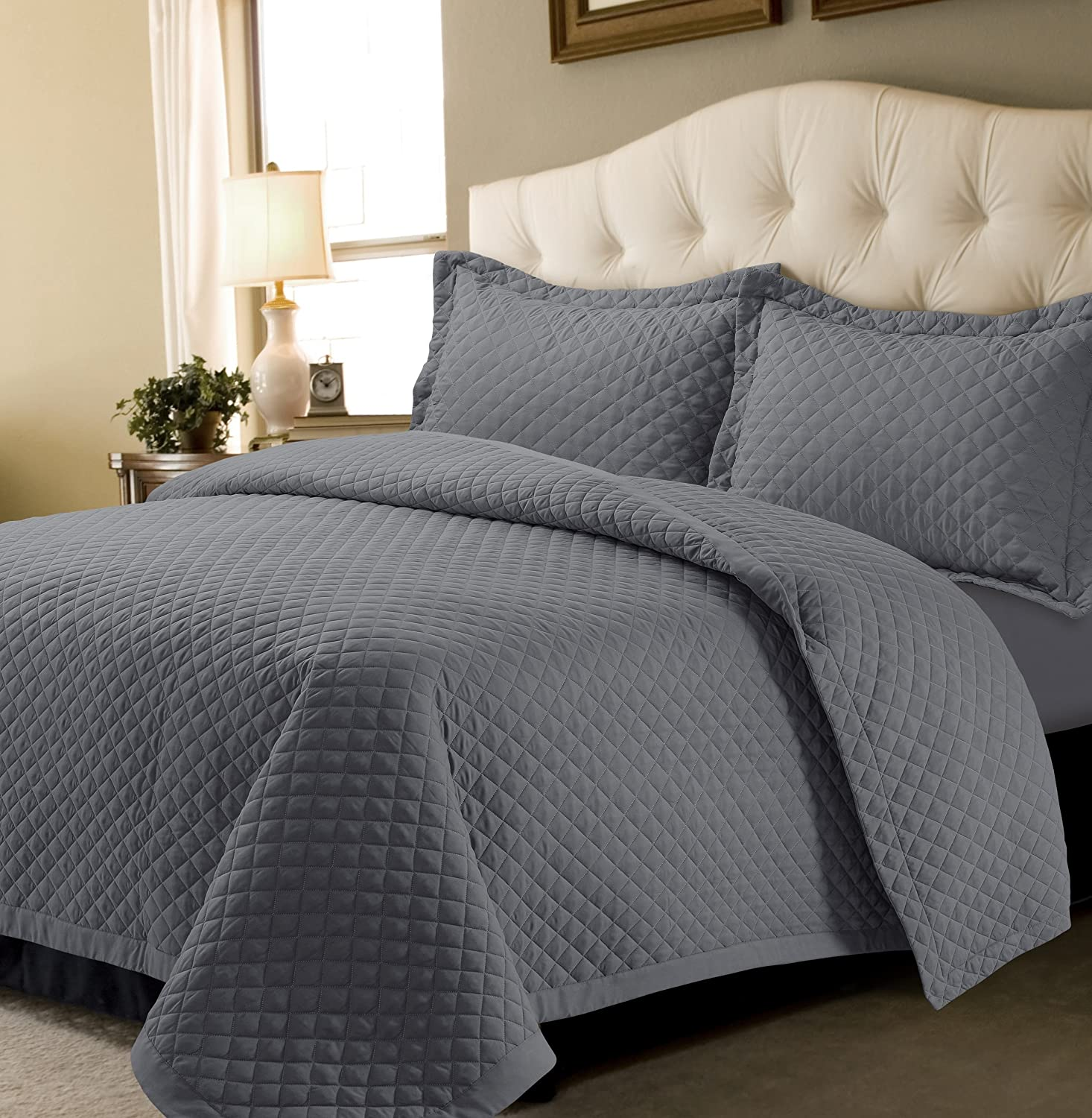 Clearance SALE Limited time Tribeca Living BRISQUILTTWGR Classic Brisbane Quilt Oversized Twin Set
