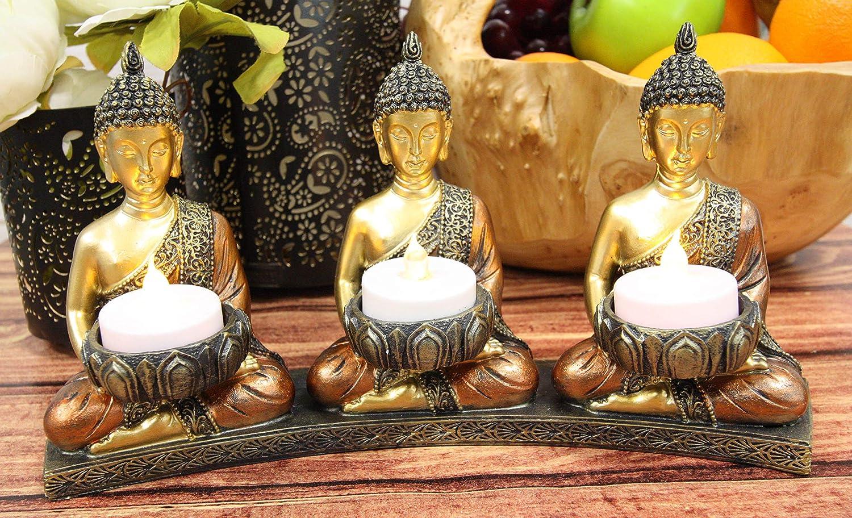 Ornamento de Hogar Baoblaze 3 Piezas Multi Forma Cer/ámica Estatua de Buda