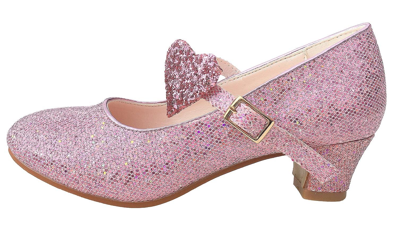 La Senorita Elsa Frozen scarpe Principessa scarpe scintillio ballerine con tacco rosa
