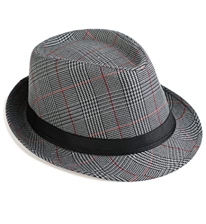 325a19be68eab Amazon.com  Sumolux Mens Fedora Hat Hat Band British Style Light Weight  Panama Cap Winter Autumn  Sports   Outdoors