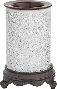 Mosaic Glass Electric Candle Warmer (Moonlight Shimmer) | On/Off Plug in Fragrance Warmer for Scented Wax Melts, Cubes, Tarts | Air Freshener Set for Home Décor, Office, and Gifts
