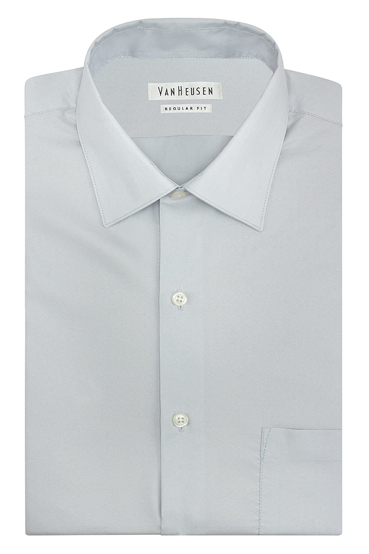 Van Heusen Men's Herringbone Regular Fit Solid Spread Collar Dress Shirt 20F6000