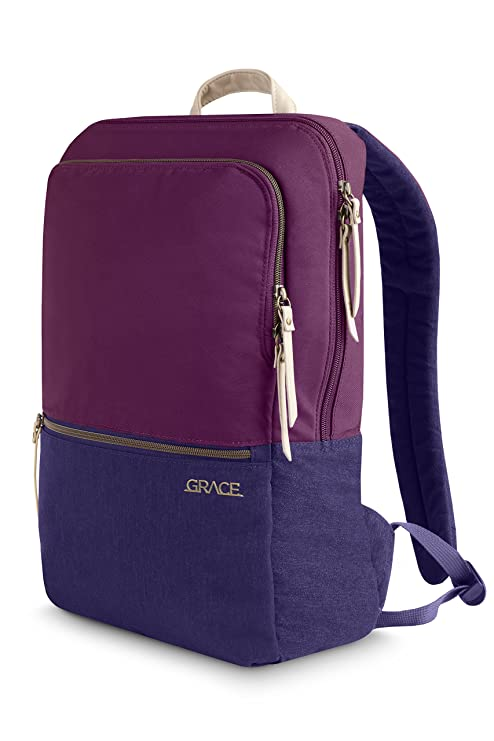 980bbbc565ea STM Grace, Women's Backpack for Laptops Up To 15-Inch - Dark Purple  (stm-111-144P-45)