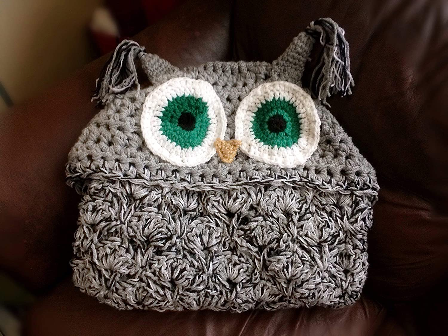 Crochet Hooded Owl Blanket Bulky Chunky Owl Afghan Owl Lovers
