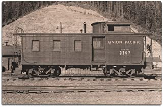 product image for Lantern Press Washington - Union Pacific Caboose - OWR&N Railroad (10x15 Wood Wall Sign, Wall Decor Ready to Hang)