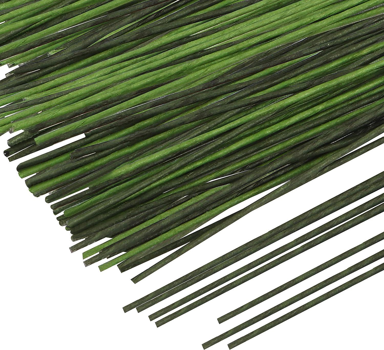Belle Vous Alambre Floral Manualidades - 20 Calibre 39,9cm de Largo Alambre Forrado Papel Verde Alambre Floristeria para Arreglos Florales Fiesta de Cumplea/ños Decoraci/ón del Hogar 300 Piezas