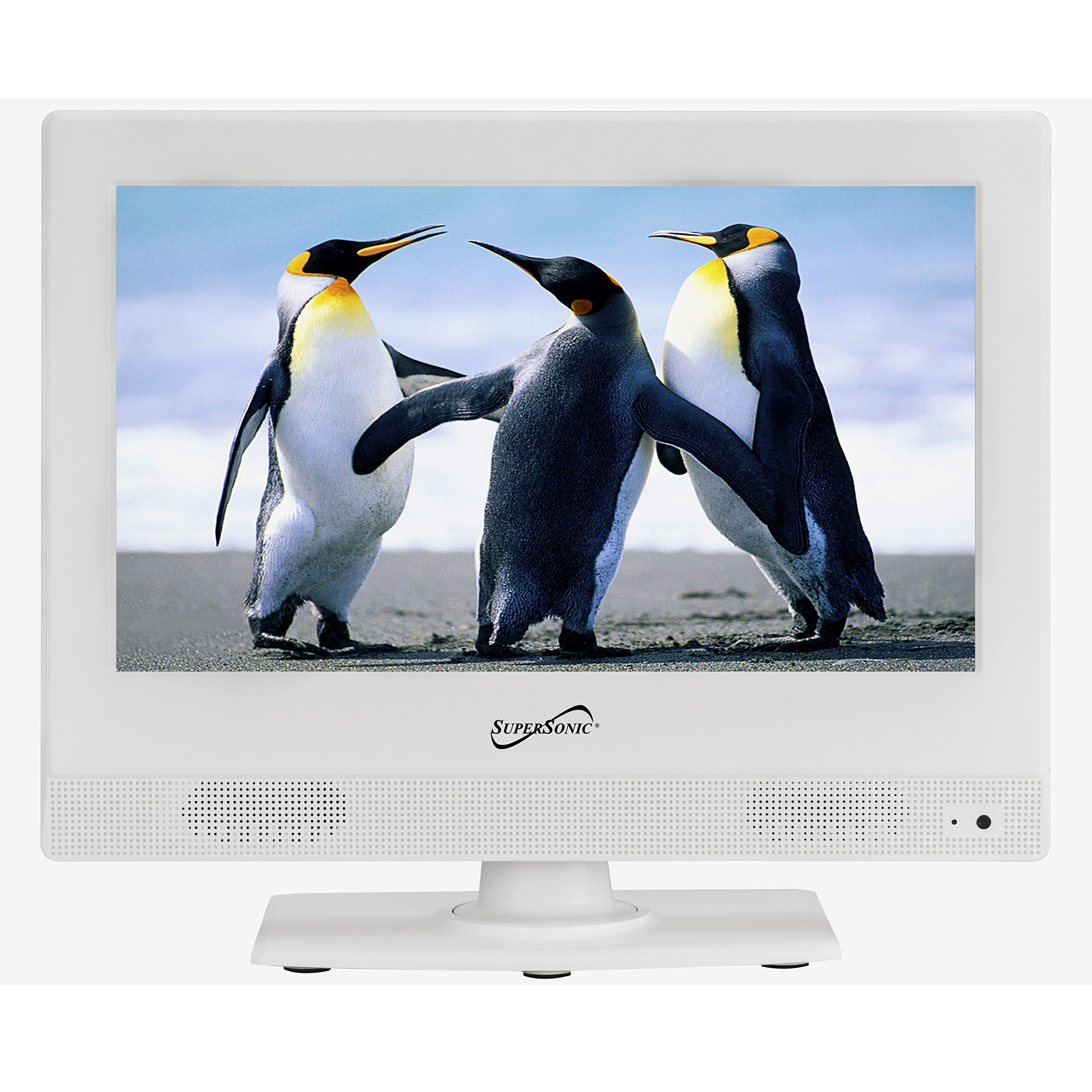 Supersonic SC-1311 White 13.3-Inch LED Widescreen HDTV 1080p Television with HDMI Input by Supersonic