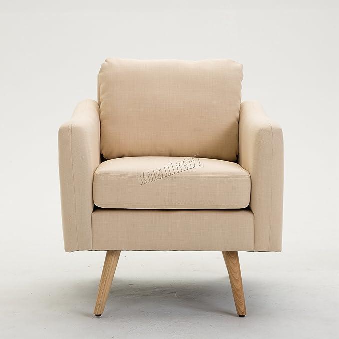 FoxHunter KMS Moderno Tela tapizado sillón sofá salón sillón ...