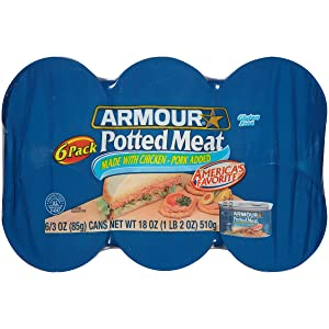 Armour Star Potted Meat, 6 count of 3 oz Cans, 18 oz