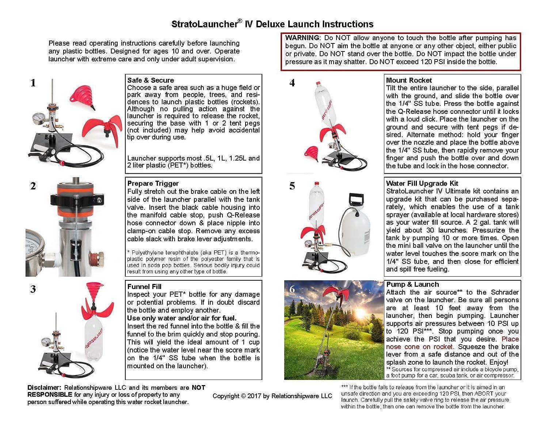 StratoLauncher IV Deluxe 120° Tilting Water Rocket Launcher + StratoFins Kit Relationshipware