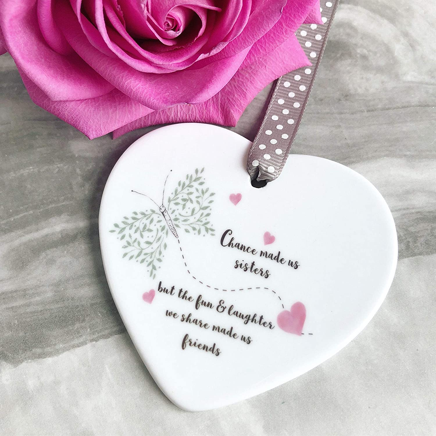 Funny Friend Chance Colleagues Craziness Heart Quote Gift Plaque Wood Handmade