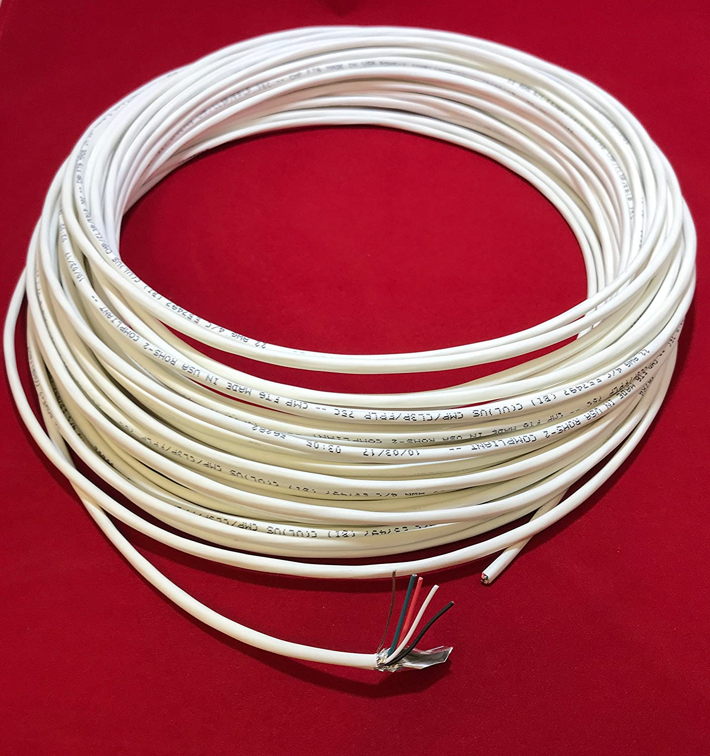Custom Cable Connection 22 Awg 4 Conductor Stranded Shielded Plenum White Cl3p Jacket 100 Foot Roll In A Bag Also Referred To As The Return Wire That Completes Circuit