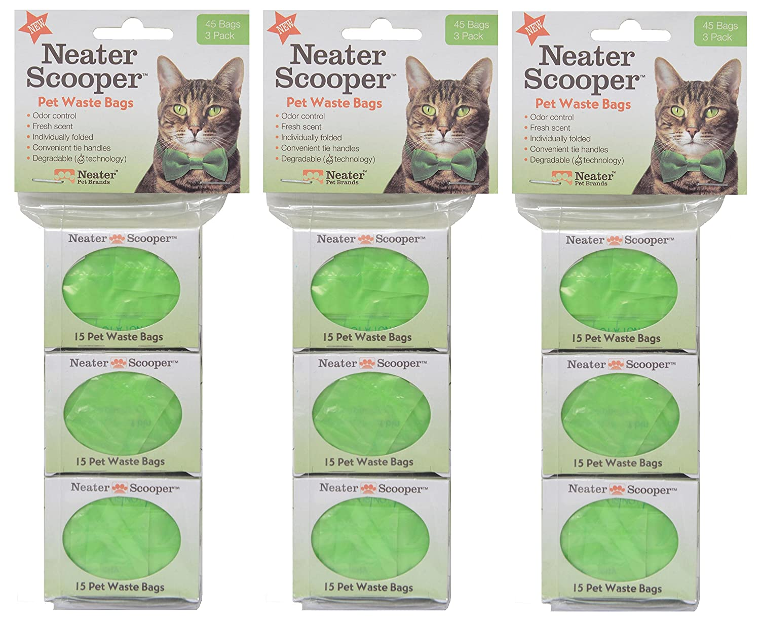 Neater Pet Brands Neater Scooper Refill Bags 135Count, Green