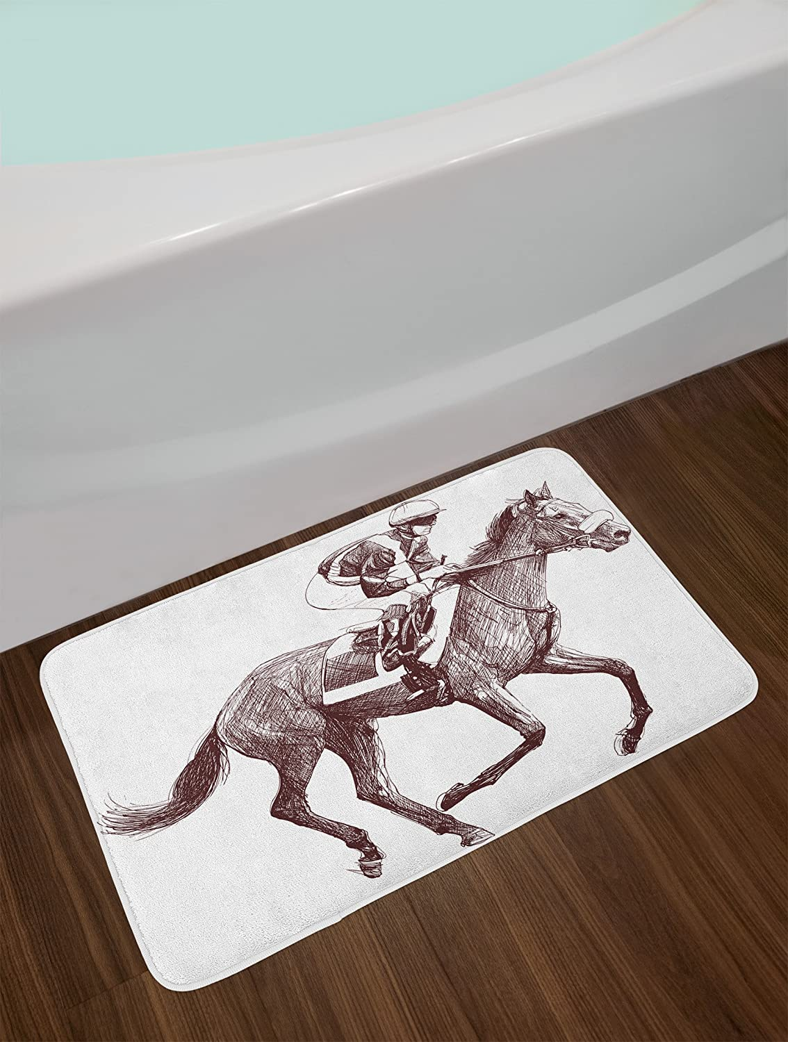 Vintage Artful Film Cinema Icons Motion Camera Action Record Graphic Style Print 29.5 W X 17.5 W Inches Lunarable Movie Bath Mat Black White bath/_26235 Plush Bathroom Decor Mat with Non Slip Backing