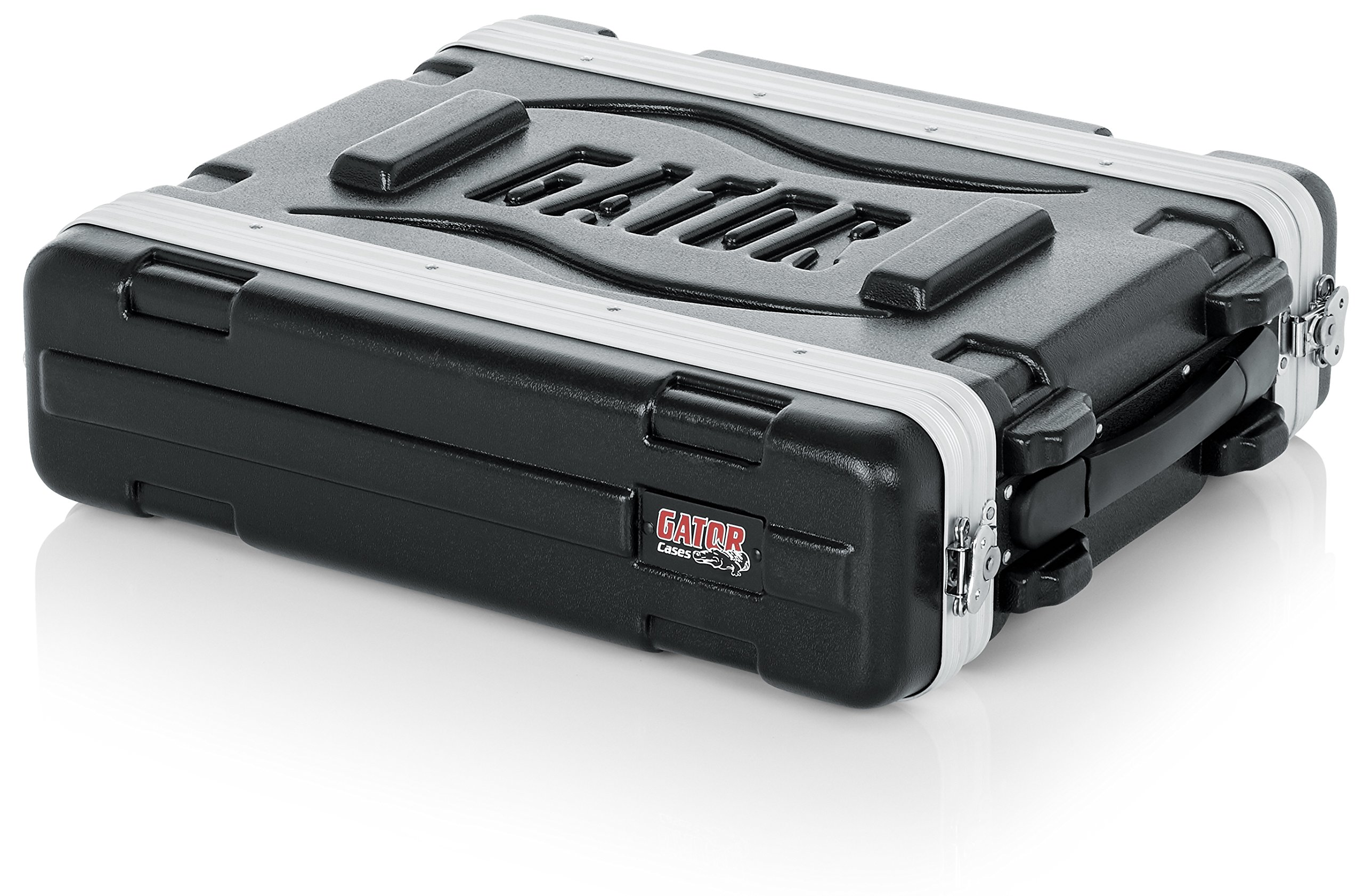 Gator Cases Lightweight Molded 2U Rack Case with Heavy Duty Latches; Shallow 14.25'' depth (GR-2S)
