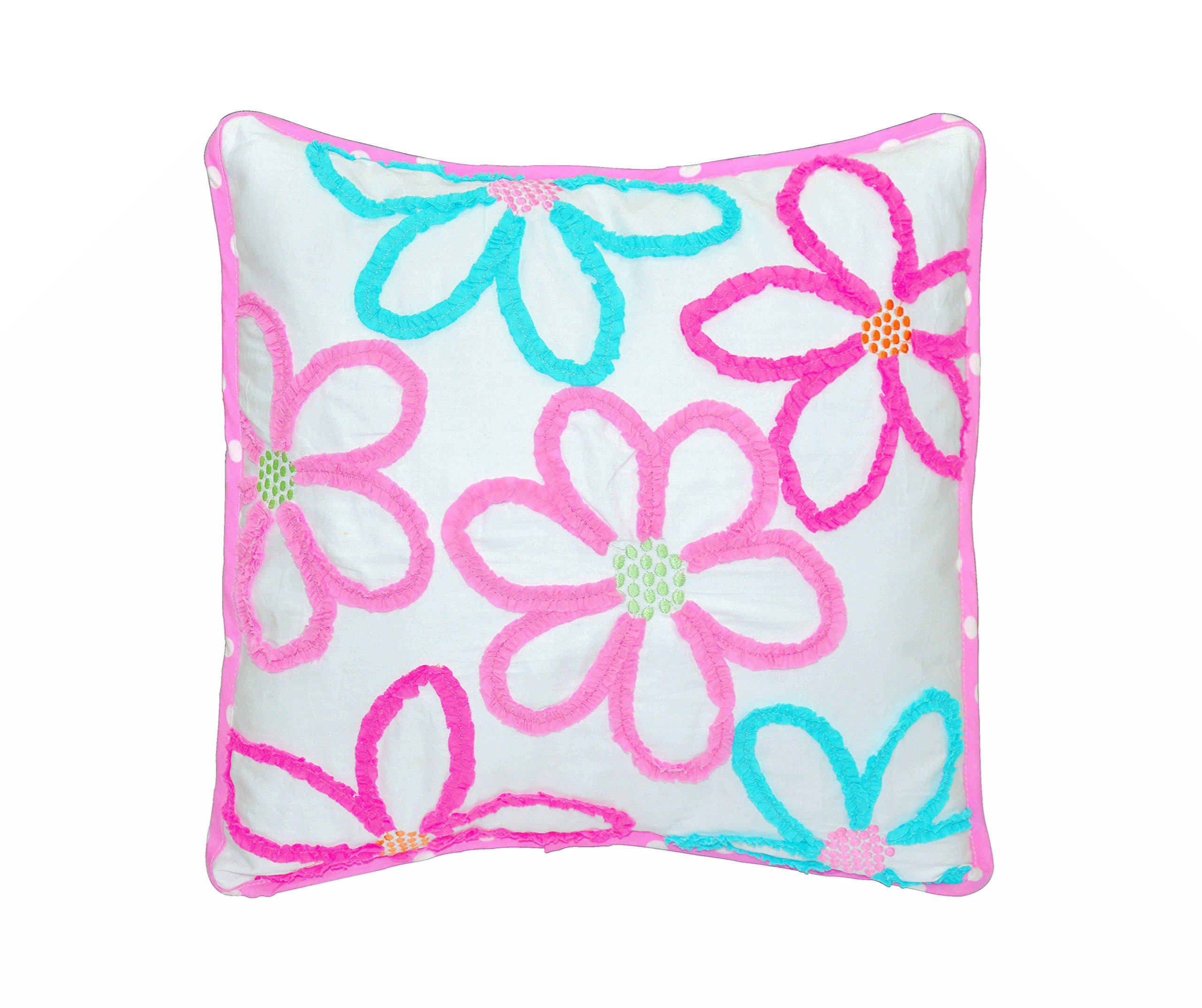 Cozy Line Home Fashions Mariah Pink 3D Floral Decorative Pillow by Cozy Line Home Fashions