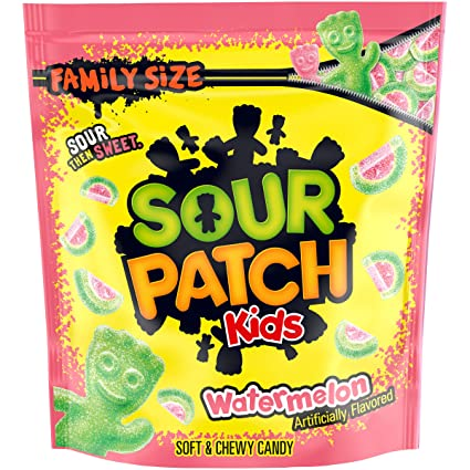 Amazon Com Sour Patch Kids Watermelon Soft Chewy Candy Christmas Candy Family Size 1 8 Lb Bag Grocery Gourmet Food