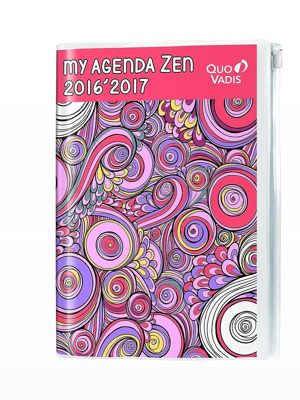 Quovadis - Textagenda - My agenda - 2016 2017 - Zen Zip rosa ...