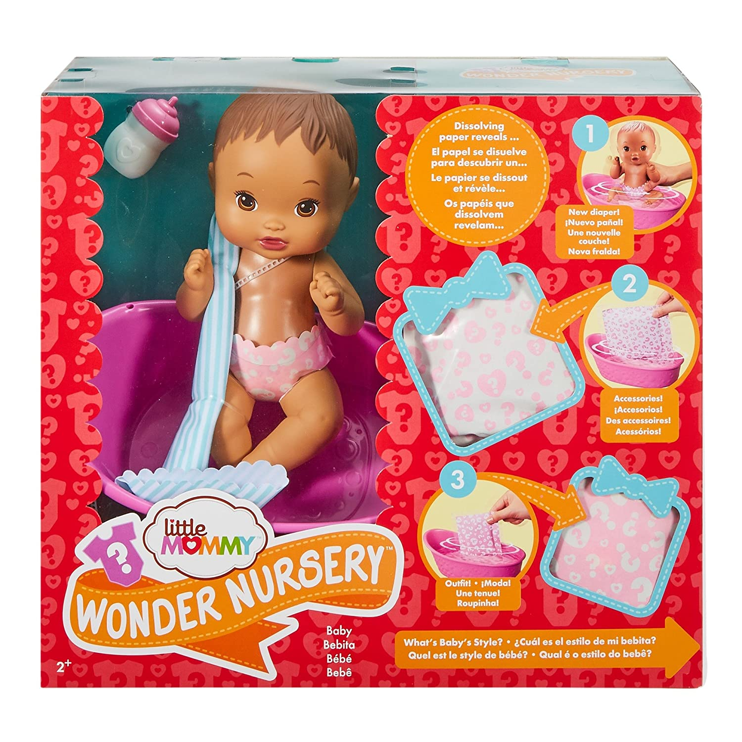 Amazon.com: Little Mommy Wonder Nursery Doll, Light Brown Haired, Styles May Vary: Toys & Games