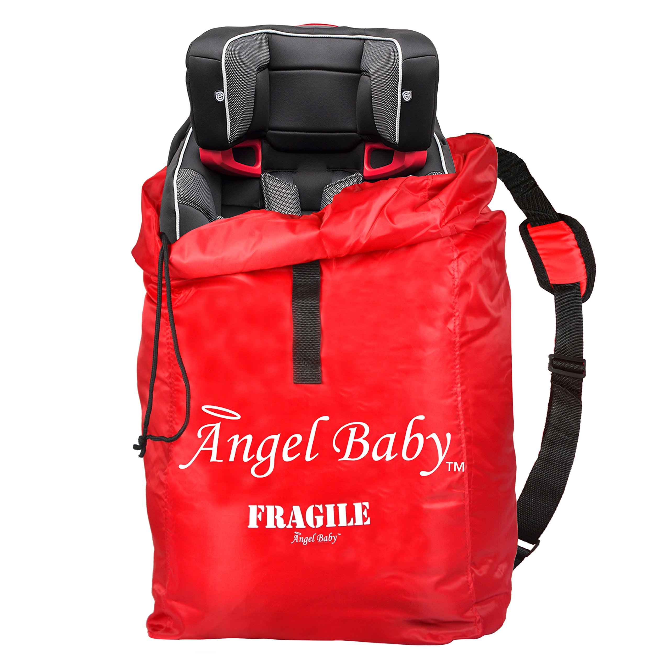 Angel Baby Car Seat Travel Bag for Air Travel: Carseat Bag for Gate Check, Red by Angel Direct Products