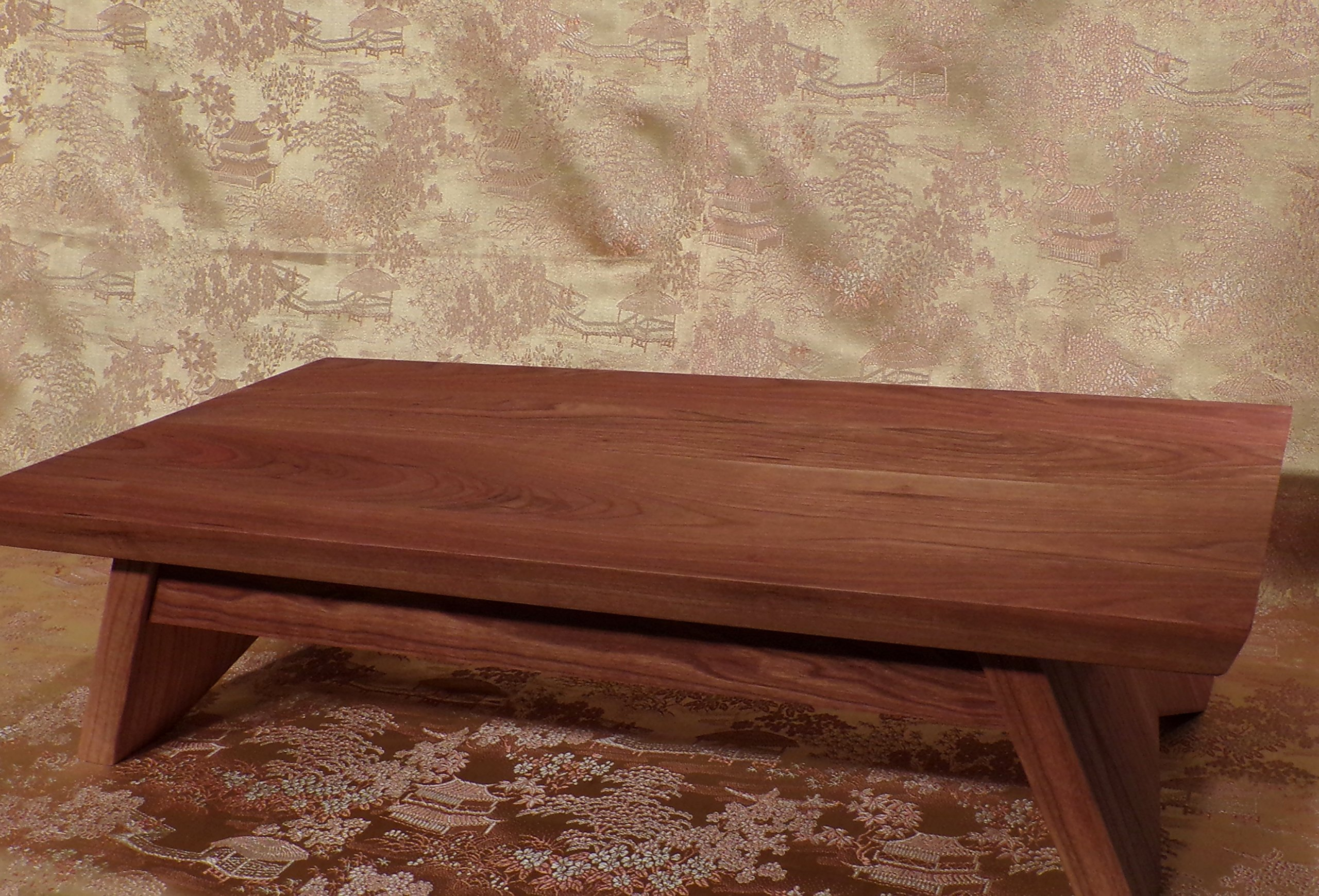 EarthBench Shrine Table - Petite Floor Altar (5'' inches tall) - Solid NORTHERN CHERRY Construction for Meditation, Prayer, or Contemplative Studies.