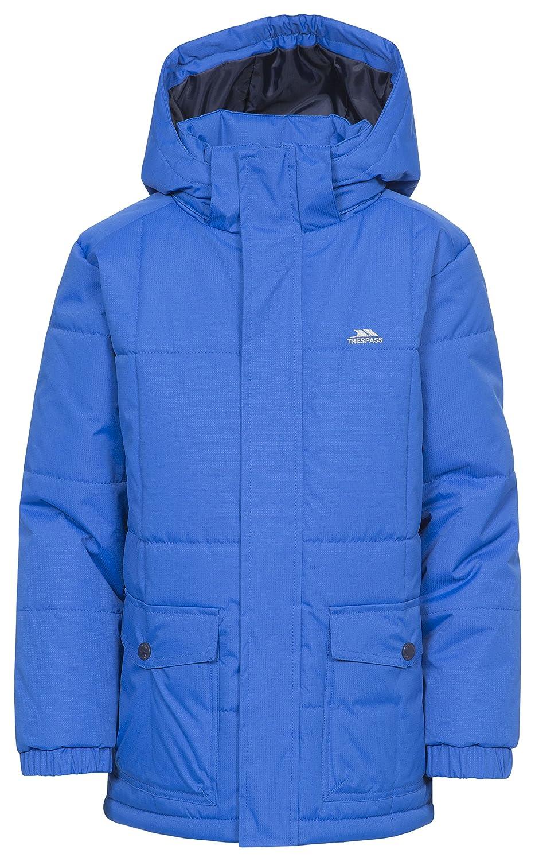 Trespass Longton Boys Padded Jacket Waterproof School Hooded Parka Kids Coat
