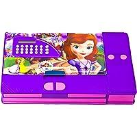 TOYVALA Princess Jumbo Gadget Pencil Box with Calculator for Kids, Multicolour