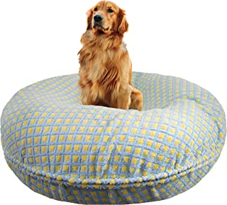 product image for BESSIE AND BARNIE Signature Robin Egg Luxury Extra Plush Faux Fur Bagel Pet/Dog Bed (Multiple Sizes)