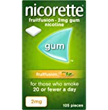 Nicorette Fruit Fusion Stop Smoking Aid Chewing Gum, 2 mg