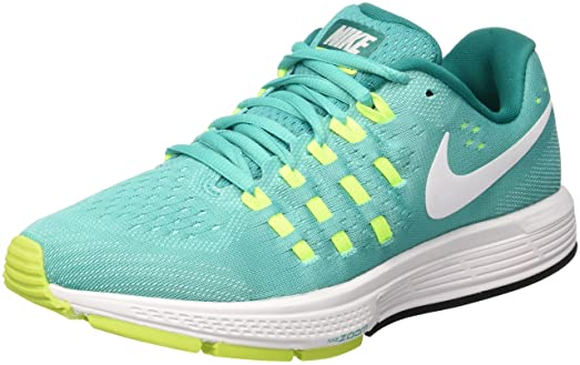 Nike Women's Air Zoom Vomero 11 ClearJade/White Volt Rio Teal Running Shoes  818100 301