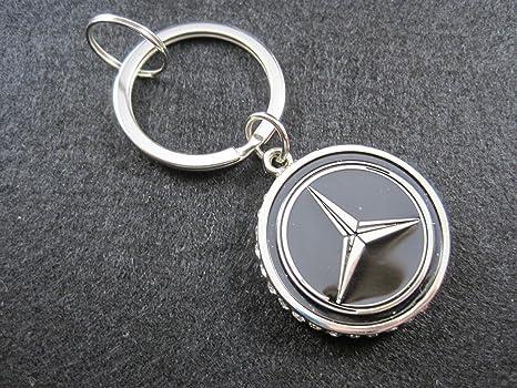 Llavero de metal Mercedes: Amazon.es: Coche y moto