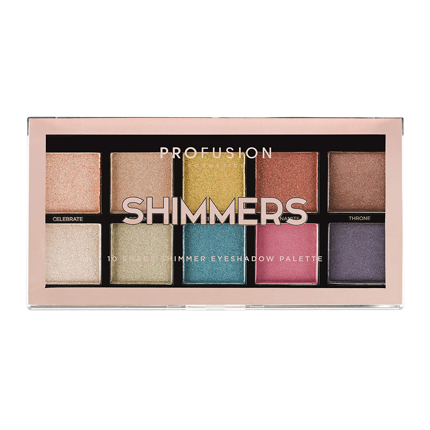 Profusion Cosmetics Mini Artistry 10 Shade Eyeshadow Palette, Shimmers