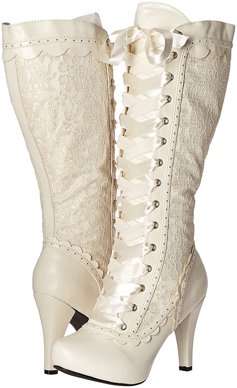 Ellie Shoes Women's 414-Mary Boot B01IRX44QW 10 B(M) US|White