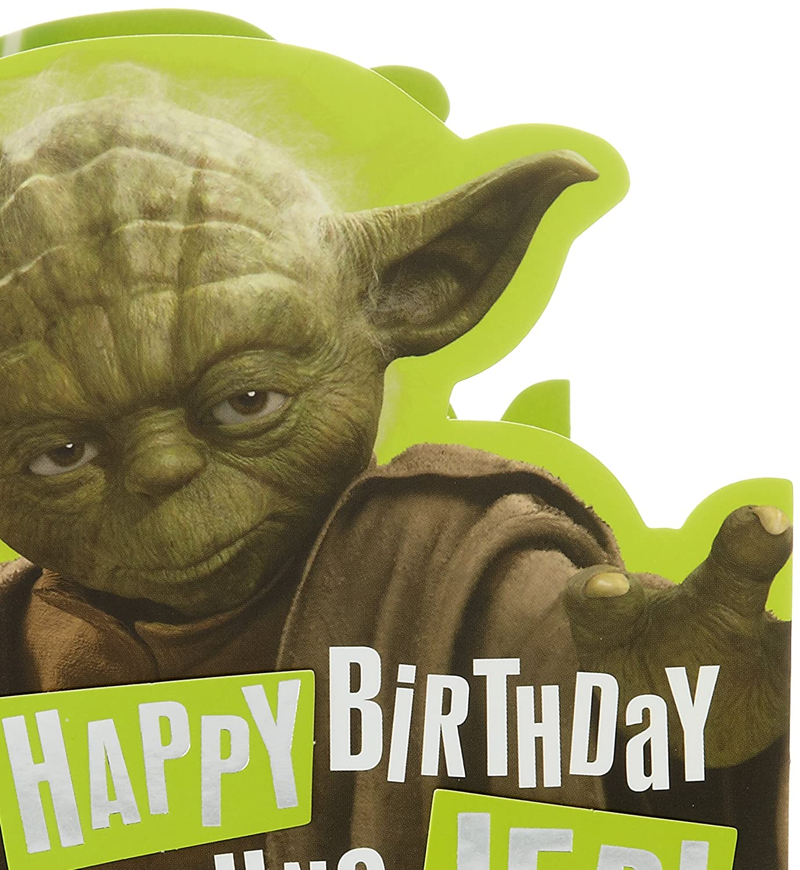 Star Warstm Yoda Birthday Card Amazon Office Products